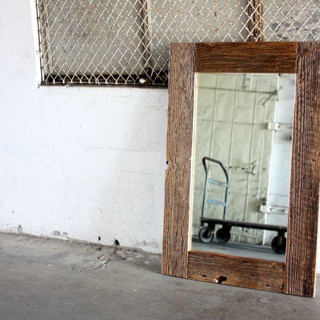 Handmade Reclaimed Wood Framed Mirror // Custom Sizes by MFEO ...