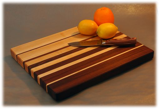 Custom Made Edge Grain (Butcher Style) Graduated Stripe Cutting Board
