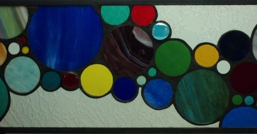 Custom Made Contemporary Stained Glass Panel (Sidelight) (S-4)