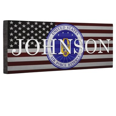 Custom Made Hero Air Force Reserves Flag Canvas Wall Art