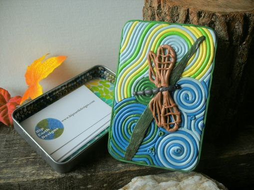 Custom Made Dragonfly Cigarette Case, Decorative Tin Or Wallet