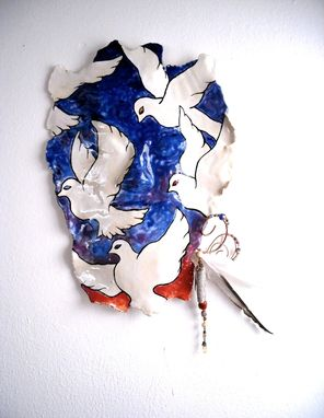 Custom Made Dove & Sunset Sculpture Fine Art Mask