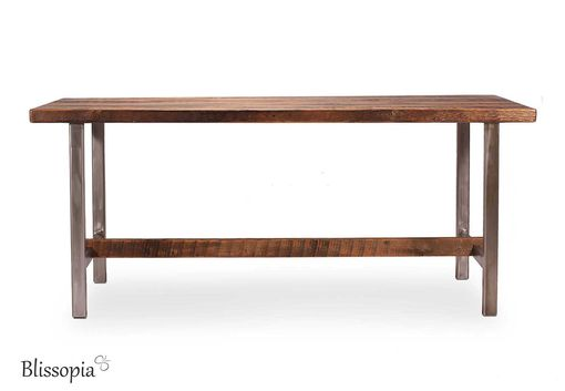 Custom Made Industrial Dining Table - Reclaimed Wood And Metal Table - Rustic Modern Table - Conference Table