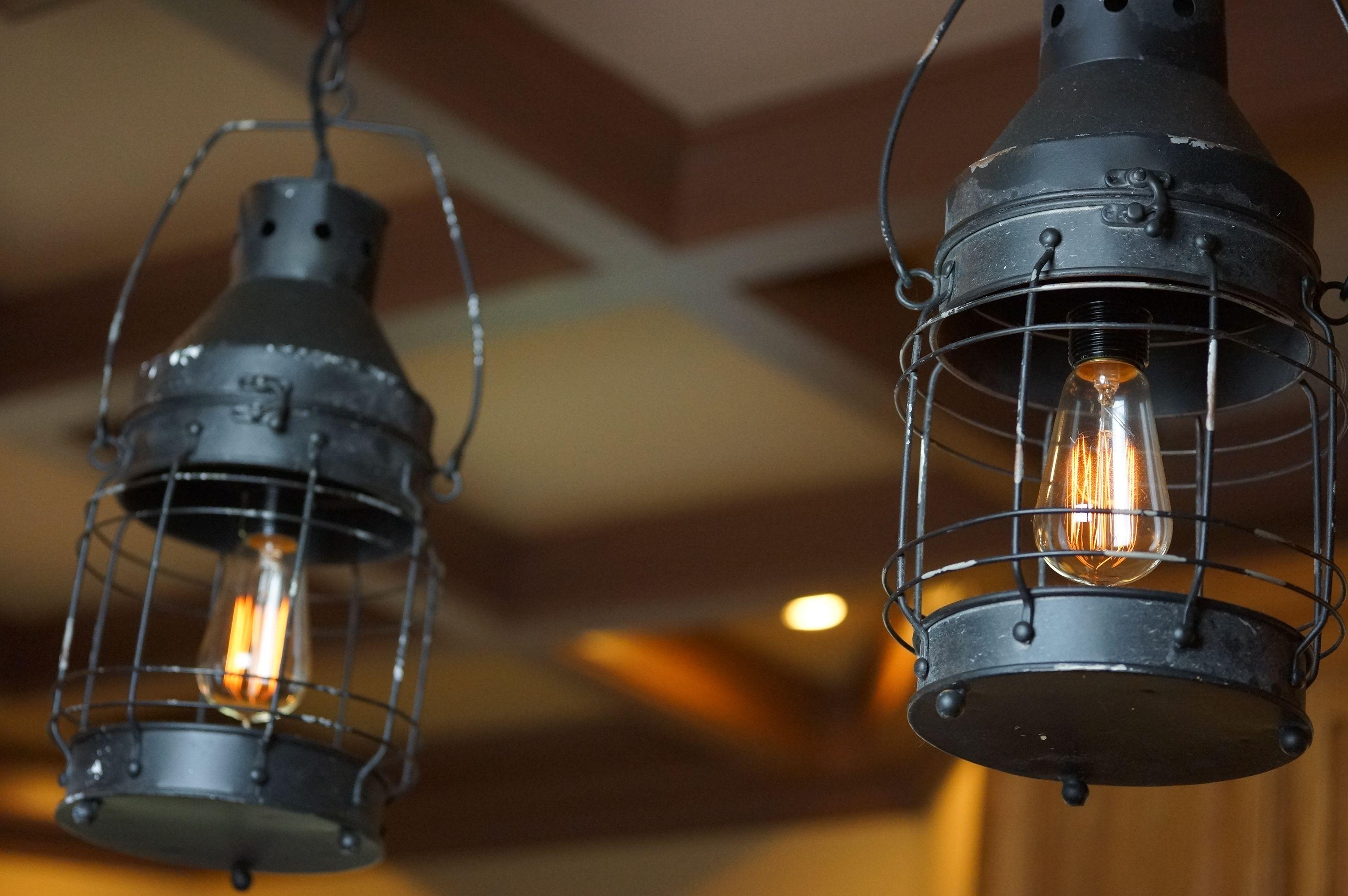 Custom Made Railroad Lantern Lights Set Of Two