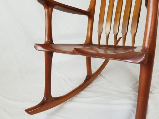Custom Made Sam Maloof Inspired Sculpted Mahogany Rocking Chair