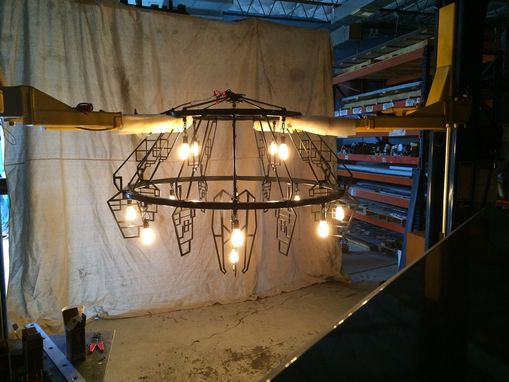 Custom Made Steel Chandelier