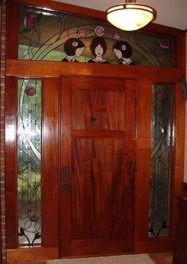 Custom Made Arts And Crafts Front Door