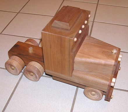 Custom Made Big Rig Lumber Hauler Toy Truck