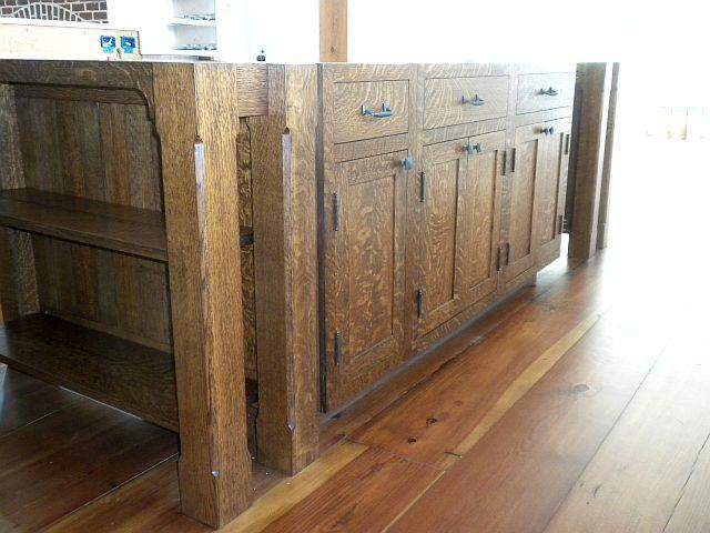 Custom Arts N Crafts Kitchen Island By Chesapeake Cabinet And