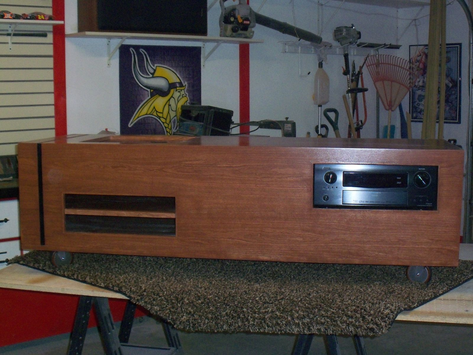 Custom Made Cherry Stereo Cabinet