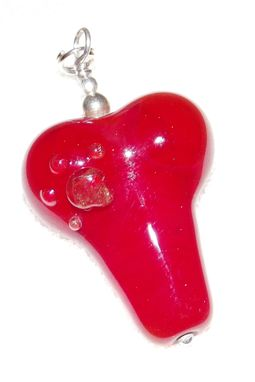 Custom Made Memorial Jewelry | Heart Paw | Pet Memories In Glass