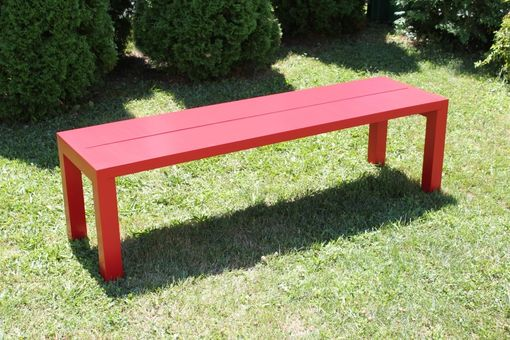 Custom Made Red Modern Bench