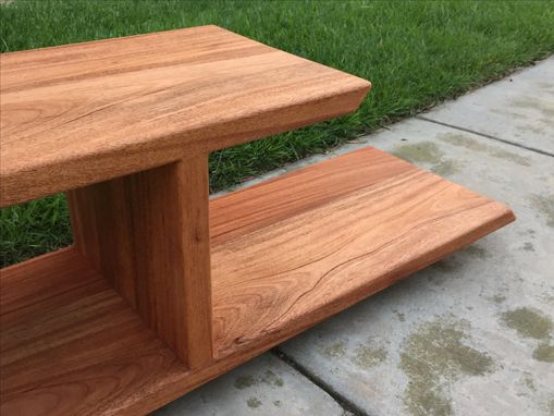 Custom Made Modern Mahogany | Solid Wood | Media Stand