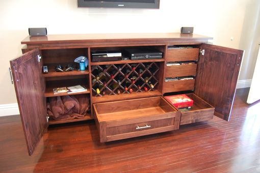 Custom Made Alder Entertainment Unit