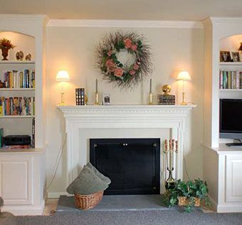 Custom Made Traditional Bookcases With Arch