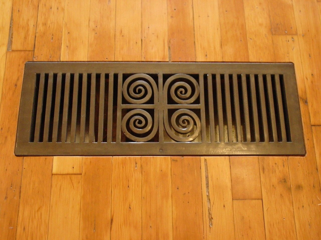 Decorative Grates Registers Custom Made Iron Floor Grate Heat Register By Arrowhead Forge