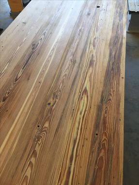 Custom Made Heart Pine Dining Table