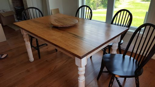 Custom Made Farm House Rustic Maple Table