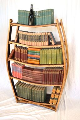 Custom Made Amarone - Wine Barrel Bookcase
