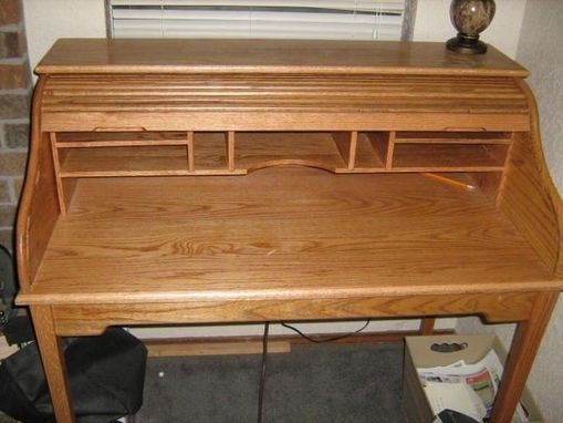 Custom Made Oak Roll Top Desk