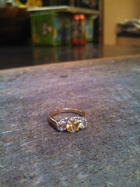 Custom Made Yellow And White Sapphire Ring
