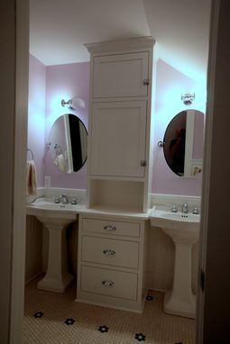Custom Made Girls Bath Cabinetry Install And Complete