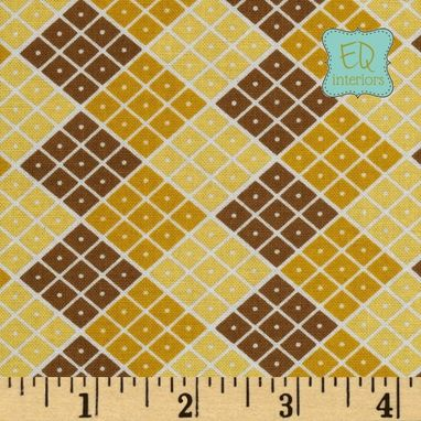 Custom Made 63l X 40w Riley Blake Indie Chic Checkers On Yellow Custom Curtain Panels