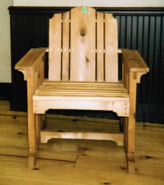 Custom Made Cedar Mission Deck Chair