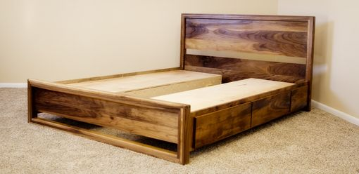 Custom Made Danish Modern Captains Bed (Swc 932) King