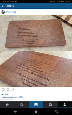Custom Made Laser Engraved Sapele Mahogany Cutting Board