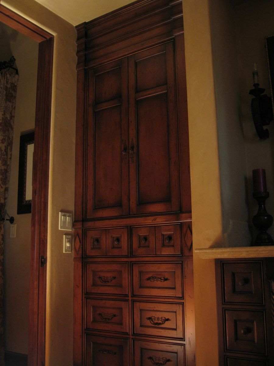 Hand Crafted Custom Alder Built In Armoire By Ps