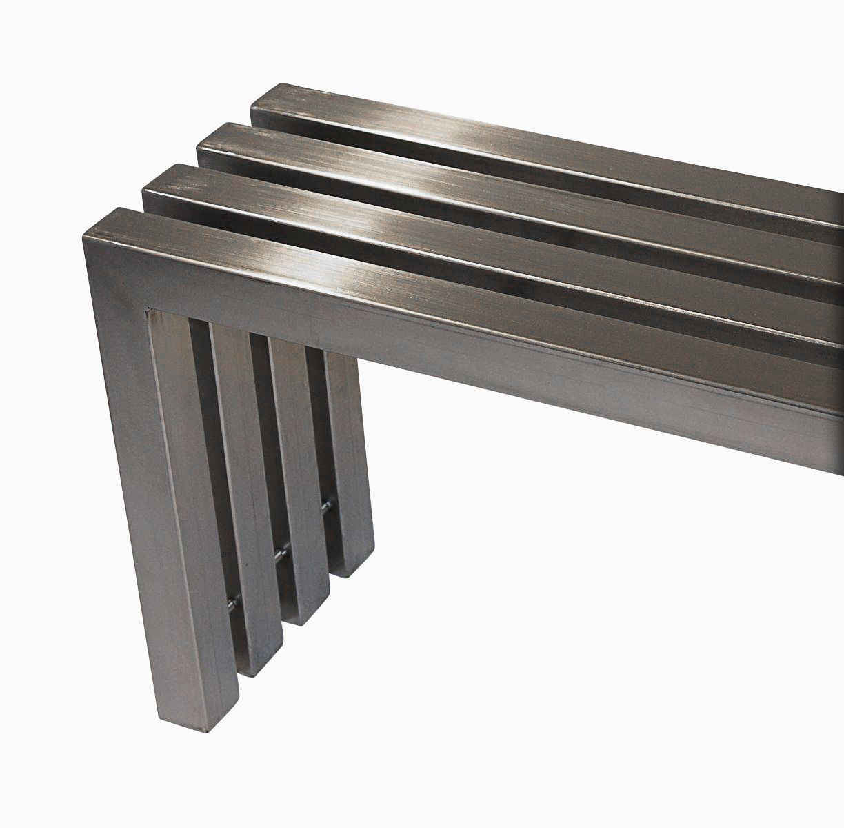 Buy A Hand Made Modern Stainless Steel Tube Bench Made To Order From Fast Lane Metalworks
