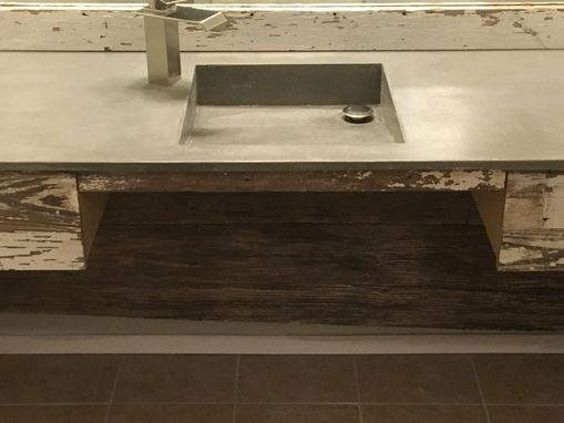 Custom Made Concrete Sink And Vanity