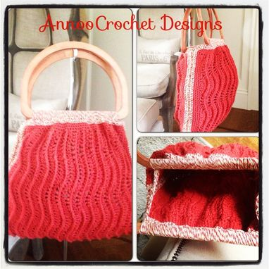 Custom Made Rippled Ridges Handbag Pattern