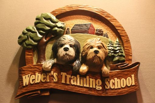 Custom Made Custom Carved Dog Signs, Carving Your Dog In Wood Signs - Lazy River Studio