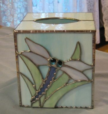 Custom Made Stained Glass Tissue Box Cover