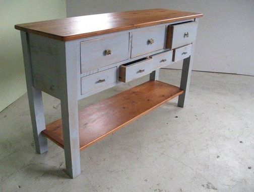 Custom Made Custom Sideboard In Slate Finish From Old Pine