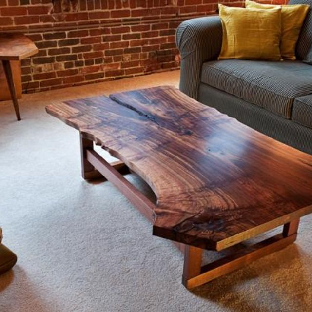 Vintage Industrial Live Edge Walnut Slab Coffee Table: Diy Live Edge End Table