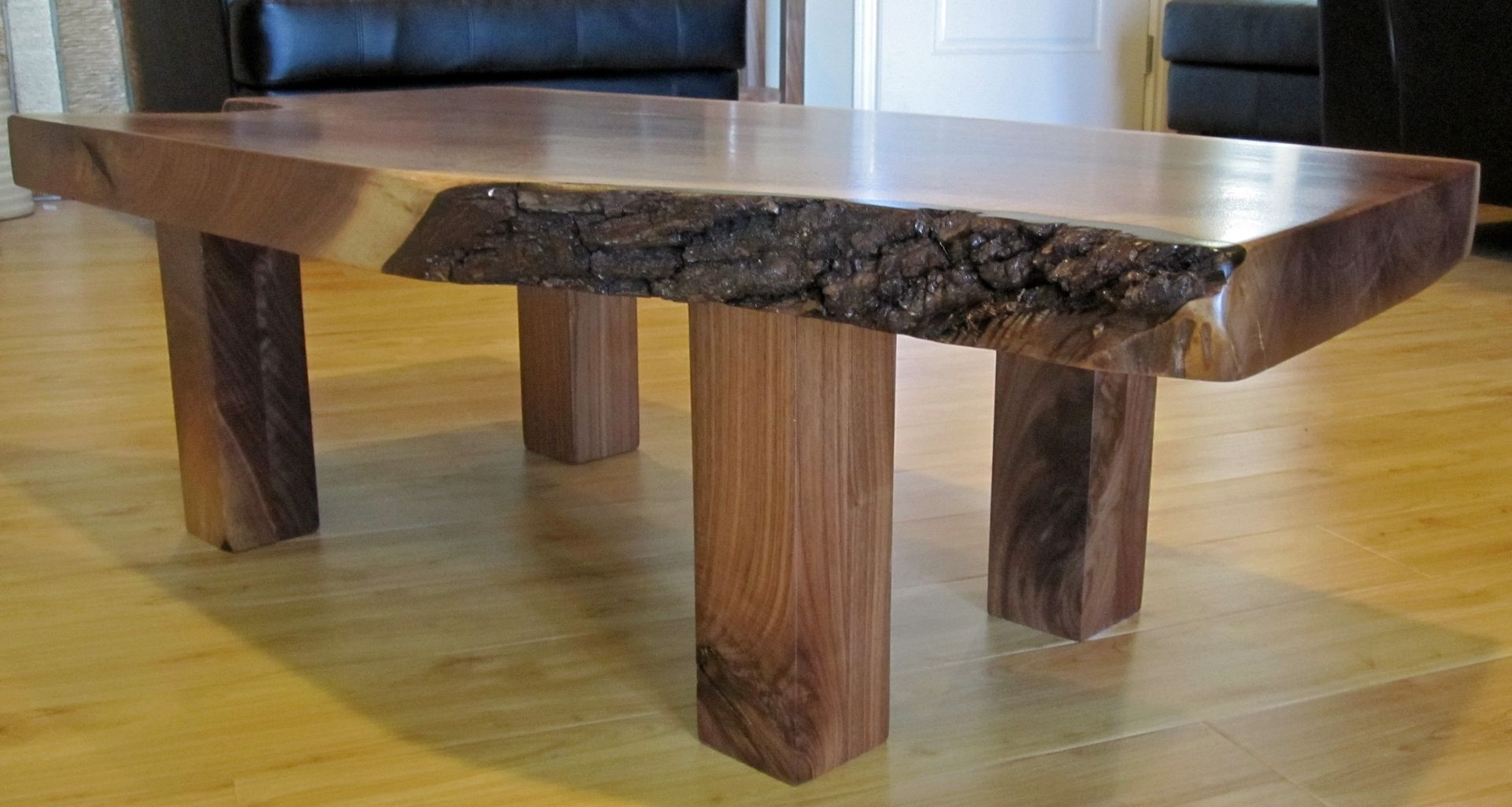 Custom Walnut Slab Coffee Table by TPT CAL