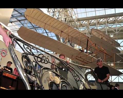 Custom Made Dayton International Airport Railing - Stoker Coffee