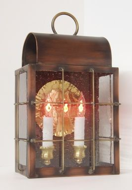 "Custom Made Solid Copper Outdoor Lantern ""Abraham"""