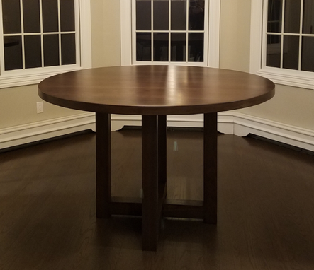 Custom Made Black Walnut Round Dining Table