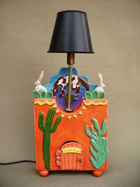 Custom Made A Very Arizona Ceramic Lamp Base