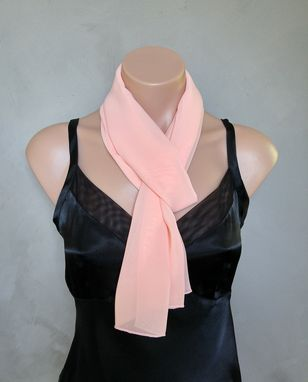 Custom Made Peach Chiffon Scarf
