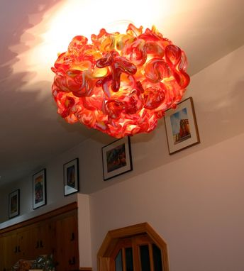 Custom Made Sunburst- Blown Glass Chandelier