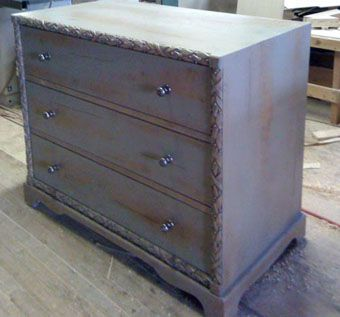 Custom Made Custom Maple Dresser With Hand Carved Detail Pieces
