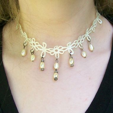 Custom Made Pearl Bridal Choker Necklace