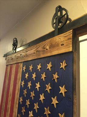 Custom Made American Flag Barn Door