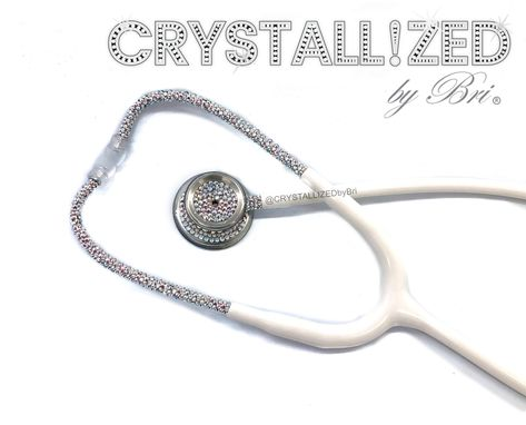 Custom Made Crystallized Mdf Md One Stethoscope Medical Nursing Doctor Bling W/ Swarovski Crystals Bedazzled