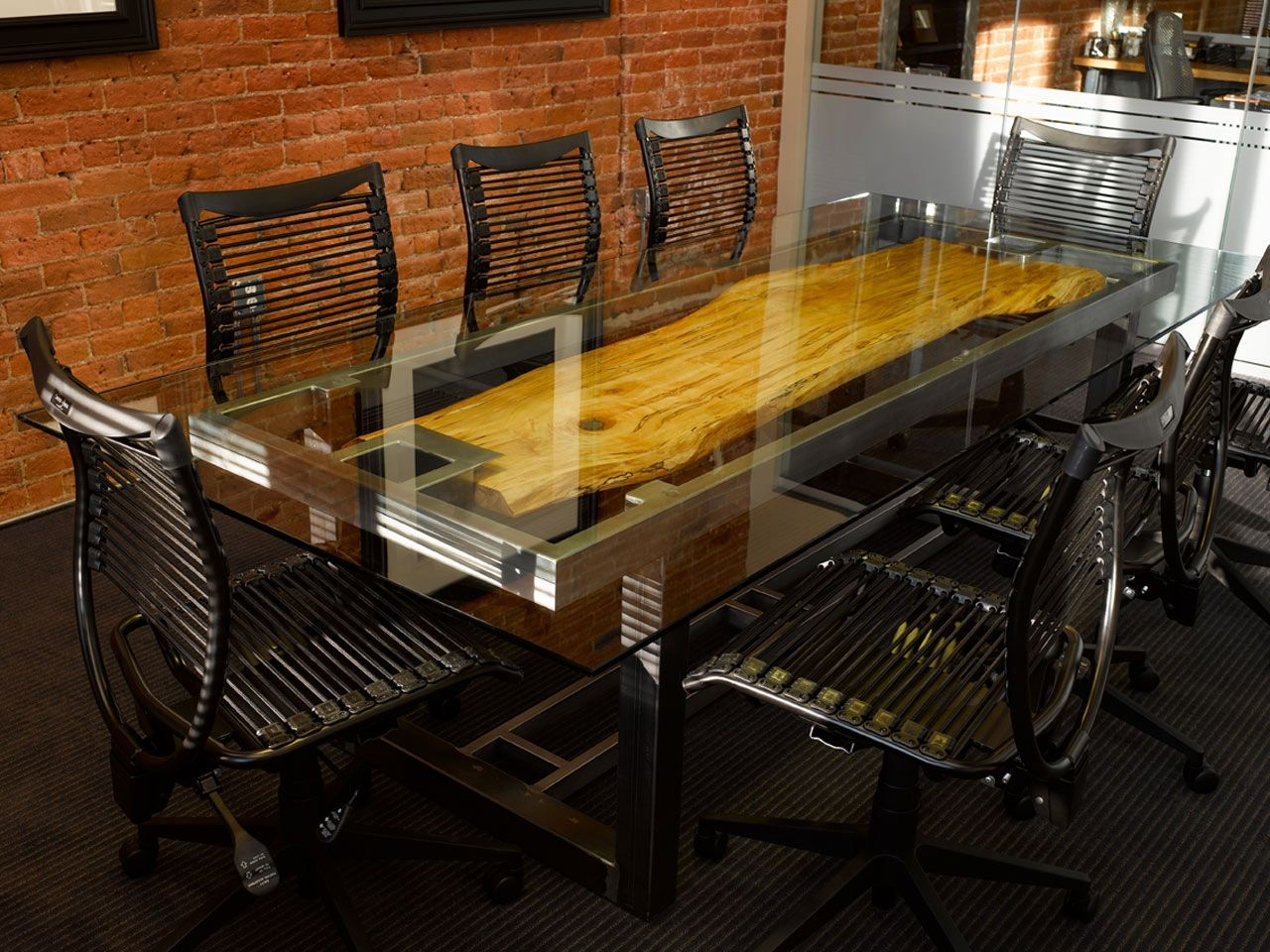 Custom Conference Table By Where Wood Meets Steel CustomMadecom - Glass top conference room table